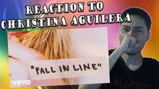 Christina Aguilera Fall In Line Ft Demi Lovato Reaction