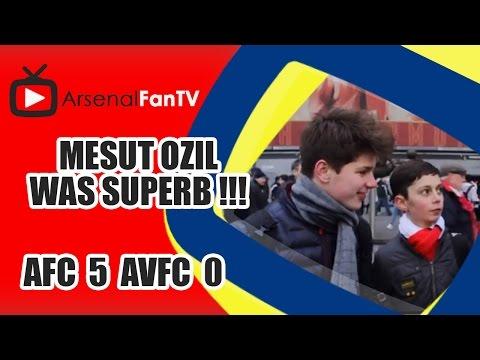 Mesut Ozil Was Superb !!! - Arsenal 5 Aston Villa 0