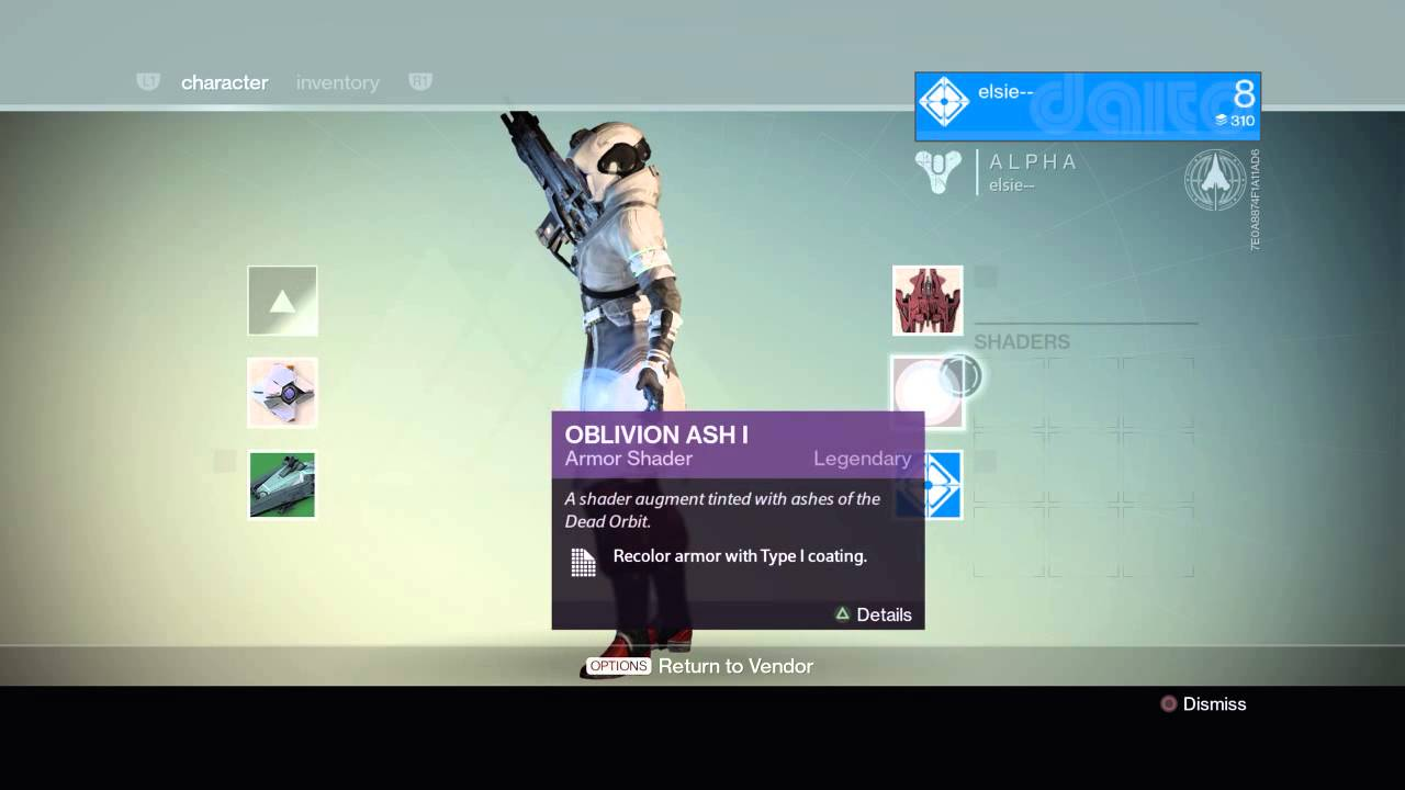 destiny 2 how to use shaders