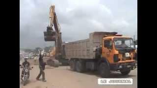 5 Chantiers 2013:Blvd. LUMUMBA,Lot 2 et 3:pont Ndjili- Aéroport :3.9 km .