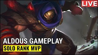 Aldous Gameplay Solo Rank MVP | Mobile Legends WTF Funny Moments
