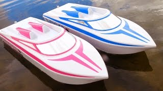 """RC ADVENTURES - JEMS NEW 6S LiPO """"Pretty in Pink"""" THRASHER UNBOXiNG! Streamline RC JET BOAT"""
