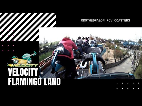 POV Velocity Motor Bike RollerCoaster  Ride at Flamingo Land A View from the Back