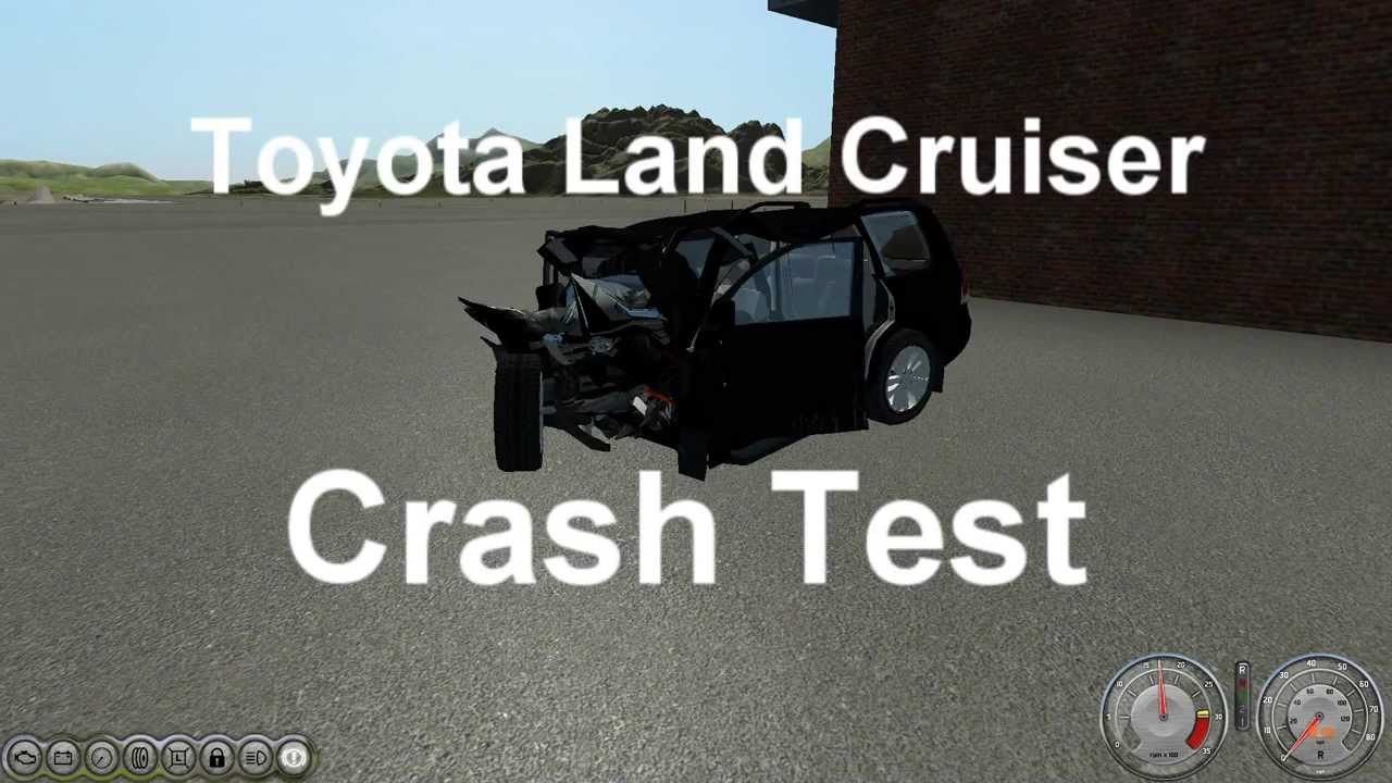 Crash Landing Toyota Land Cruiser Crash