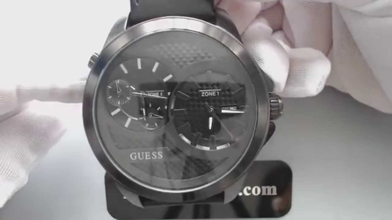 Guess Men Watches Men's Guess Dual Time 2 Time