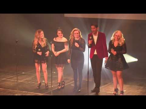 ESCKAZ in Amsterdam: O'G3NE (The Netherlands) speaking with hosts at Eurovision In Concert