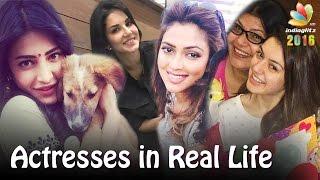Kollywood Actresses in Real Life : 2016 Celebrities | Sunny Leone, Shruti Hassan, Hansika