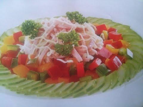 Салат обжорка с ветчиной рецепт