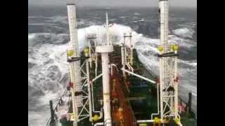 Химовоз в шторм/Chemical tanker in storm.