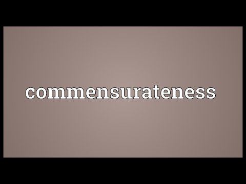 Header of commensurateness
