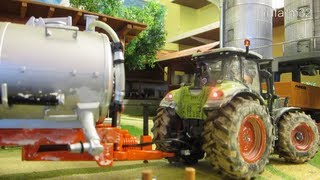 RC TRACTOR at dirty farm work - Rc toys like real