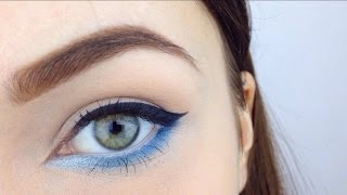 Blue Liner Makeup Tutorial ♡ Spring Makeup
