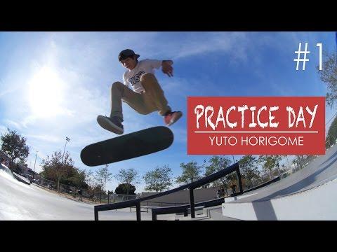Practice Day #1 - Yuto Horogome - Gilbert Lindsay Skate Plaza