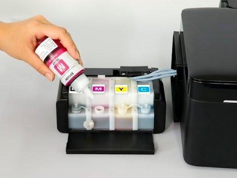Carga de Tinta A Impresora Epson L210