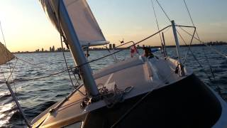 Sailing on the  Lake Ontario