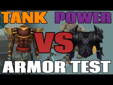 Tank Armor VS Power Armor: DPS and Defence Test [Runescape 2014]