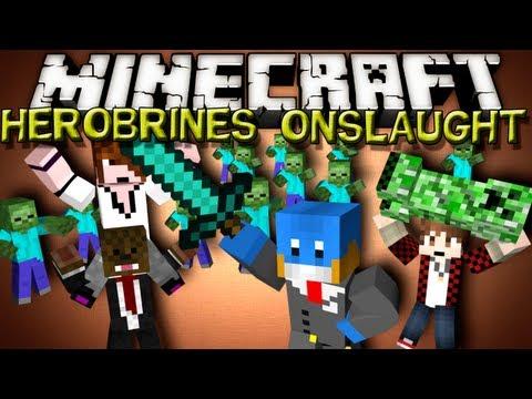 Minecraft HEROBRINES ONSLAUGHT! - w/ Deadlox, BajanCanadian and JeromeASF!!!