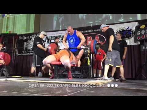 1,115kg/2,458.1lb All-Time World Record Raw Total w/ Wraps @ 139kg/306.4lbs