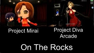 Project Mirai On The Rocks PV Comparison 3DS Arcade