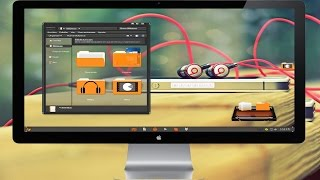 Thema Elegante│Orange Black Glass│Para Windows 7│2015