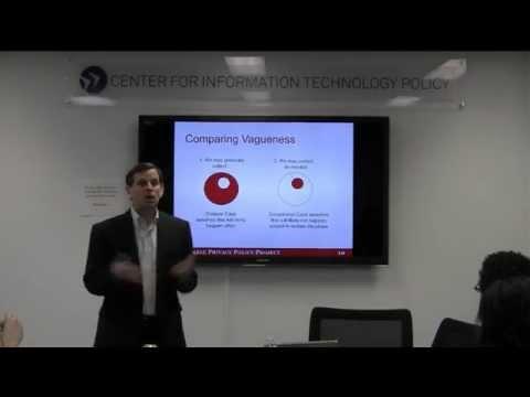 CITP Luncheon Speaker Series: Joel Reidenberg: Privacy Policy Ambiguity