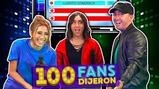 100 Fans Dijeron Ep. 4   Hombres VS Mujeres