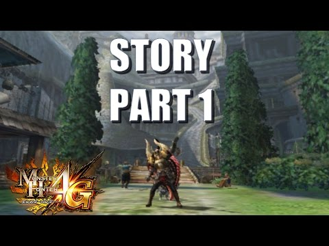 Let's Play Monster Hunter 4 Ultimate (4G) STORY (translated) 1: Setting the scene in Dondruma Town
