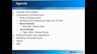 Introduction: Cloud Computing Series (Session 3): Microsoft's Cloud Computing Platform-Windows Azure
