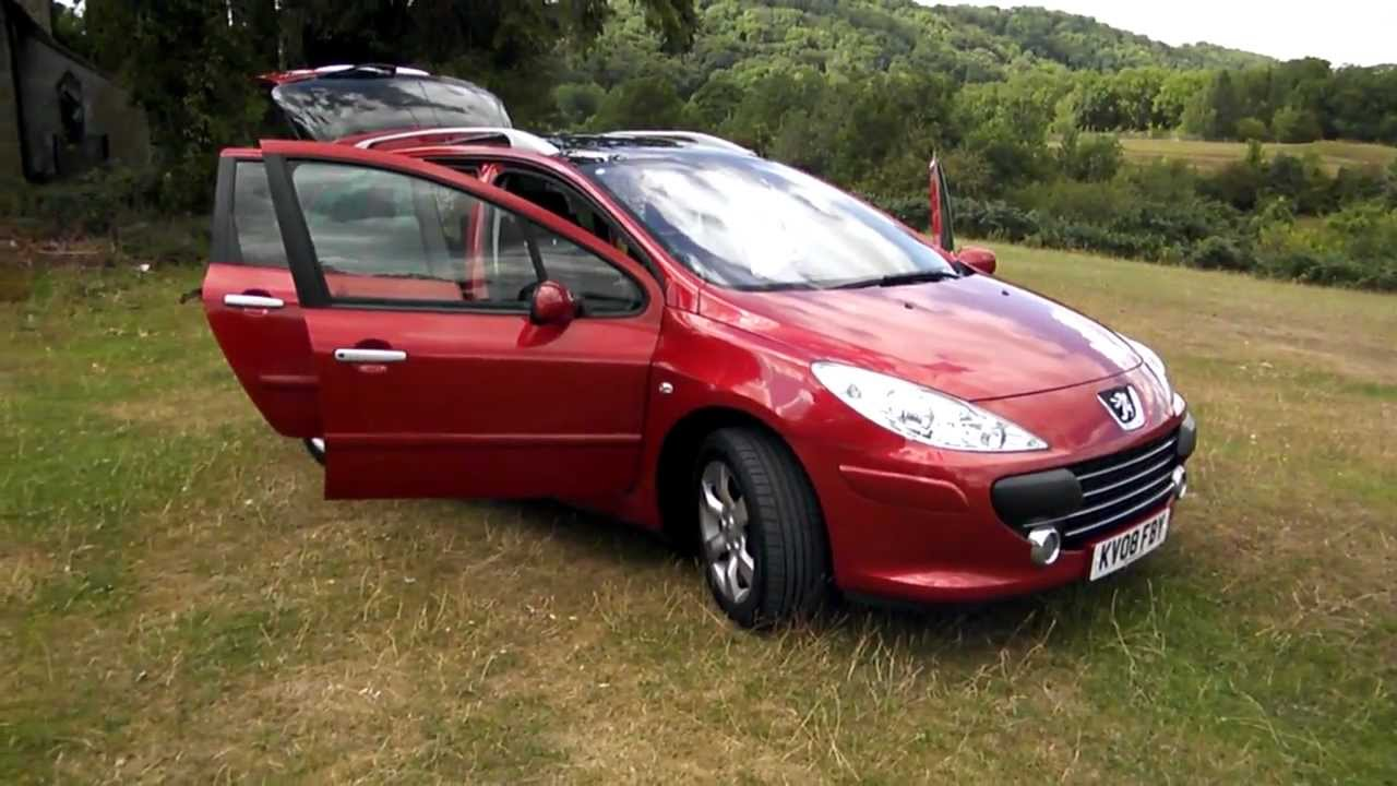 2008 peugeot 307 1 6 110 hdi se sw estate youtube. Black Bedroom Furniture Sets. Home Design Ideas