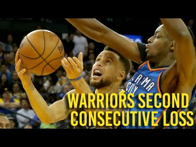 Warriors suffered second consecutive loss in game against Thunder