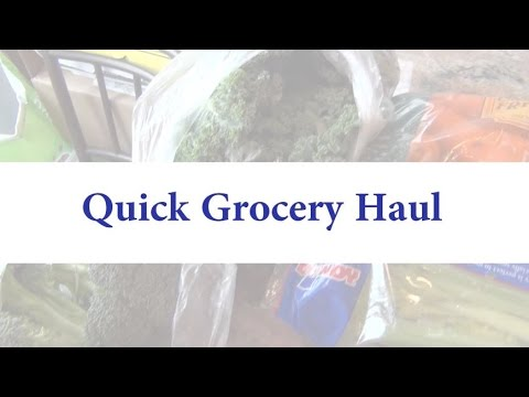 Quick Grocery Haul (Weight Watchers)