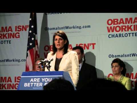 S.C. Gov. Nikki Haley says Obama insults women and minorities