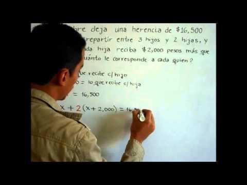 Problema de aplicación sobre ecuaciones de primer grado.