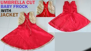 Umbrella baby frock drafting, cutting and stitching | Baby frock cutting and stitching with jacket
