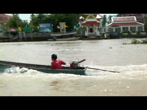 Little Boy in River Boat Speeder- Chao Phraya River – Bangkok, Thailand