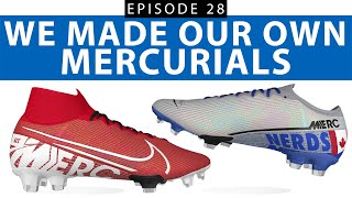 """MAKING OUR OWN CUSTOM NIKE MERCURIAL BOOTS   you can't write """"Messi"""" on a Vapor?"""