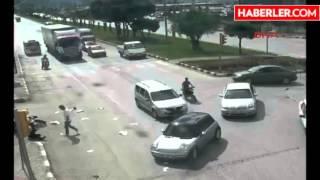 Manisa'da Kazalar Mobese Kamerasında