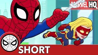 Spidey & Captain Marvel Fight... Slime?!   Marvel Super Hero Adventures - It's An Alien!   SHORT
