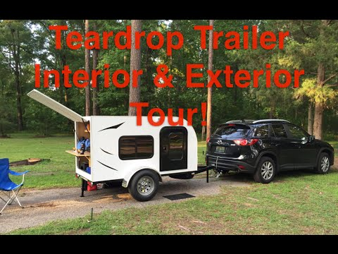 Teardrop Trailer Tour - Interior & Exterior - Tiny House!