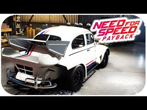 NEED FOR SPEED PAYBACK GAMEPLAY - VW Beetle Customization Gameplay - 'Herbie Fully Loaded'