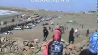 Urmiye Gölü: İran polisi etirazçılara daş atır