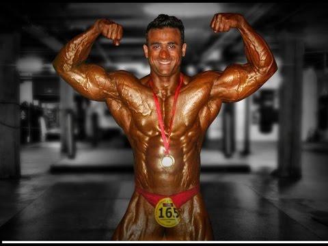 Bodybuilder Mr India Jitender Yadav In 2012 Mr India Compeion