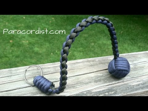 Paracordist how to tie the snake knot and crown knot to finish the paracord Batt