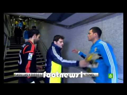 Iker Casillas refuses to shake hands with Diego Lopez