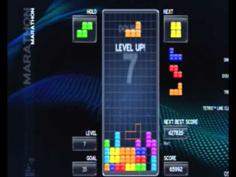 Tetris gameplay (Playstation 3)