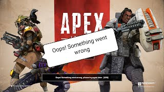 How To fix Apex Legends Oops! Something went wrong, please try again later.[105] PS4 Issue