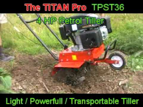 The Titan Pro 4 HP Car transportable TILLER