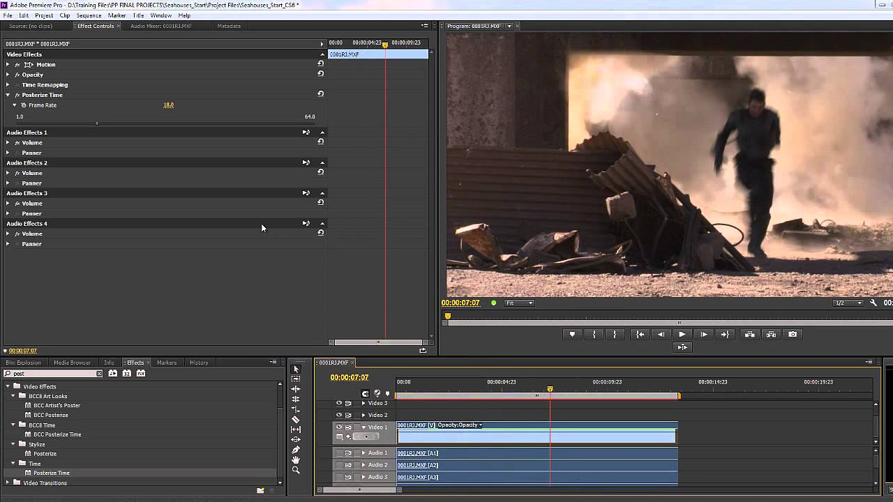 how to make a still frame in premiere pro cs6
