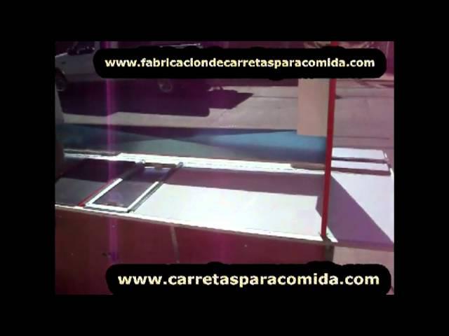 CARRITO DE HOT DOGS EN MADERA Y ACERO 01 800 CARRETA
