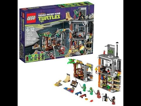 Конструктор Лего Черепашки Ниндзя (Teenage Mutant Ninja Turtles) Атака на базу черепашек 79103